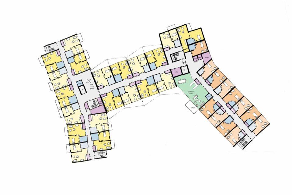 De Bunterhoek Plattegrond 1e Verdieping Care Concept