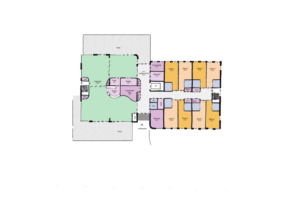 Plattegrond BG Nieuwbouw Almere Care Concept